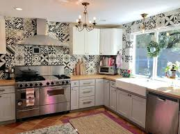 mexican tile kitchen backsplash unbelievable tile butcher block cement grey cabinets white pics for kitchen style