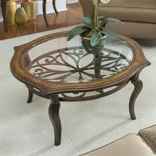 stunning round glass top coffee table with wood base with dining room great round glass coffee