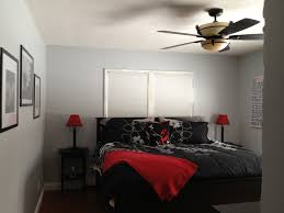 Red Black And Grey Bedroom Grey White Black And Red Bedroom Makeover Before And After