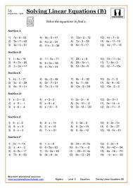 positive and negative number worksheets ks3 intrepidpath algebra solving equations at ks4
