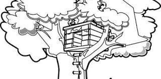Tree House Coloring Pages Free Design And Ideas Page 0 Icce