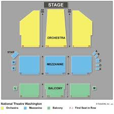 70 Always Up To Date National Theatre Seating Chart