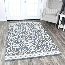 blue grey area rug home blue grey wool hand tufted medallion area rug evangelina blue gray