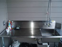 stainless steel fish cleaning station with sink ideas