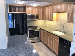 project mountlake terrace kitchen remodel before finished kitchen with new island custom hickory cabinets quartz countertops