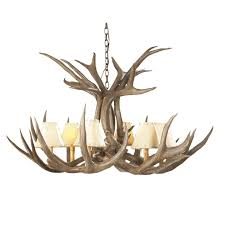 mule deer antler single tier chandelier 6 light 6 gif
