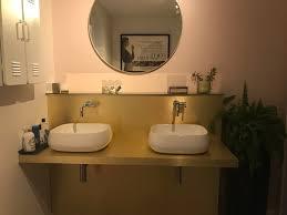 brushed gold floating shelves top