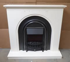 homebase elmont electric fireplace suite fire heater soft white 2kw