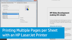 Printing Multiple Pages Per Sheet With An Hp Laserjet Printer