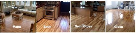 hardwood floor sheen options
