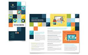 Advertising Company Tri Fold Brochure Template Design