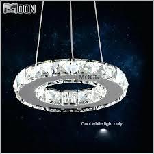 circle crystal chandelier diamond ring led light modern lamp guarantee style swarovski