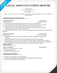 Resume Objective For Paralegal Legal Secretary Resume Objective 58