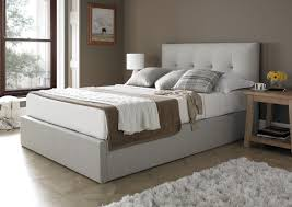 Ottomans For Bedroom Mw Kaydian Design Dreydern 4ft 6 Double Ottoman Bed Oatmeal