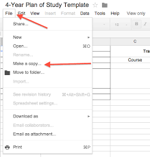 4 Year Plan Template How To Build An Academic Plan In Google Docs Eportfolio Nd