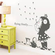 decal for kids nursery room wall decor emiracleze gift holiday ping blow bubbles girl