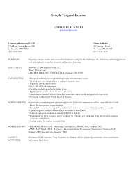 Targeted Resume Example