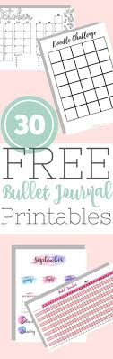 Bullet Journal Template Pdf Epic List Of 30 Free Bullet Journal Printables The Petite Planner