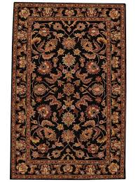 details about traditional fl hand tufted oushak oriental wool 8x11 black area rug