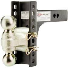 ball hitch lock. onemount/curt adjustable trailer dual-ball hitch 14,000lb ball lock