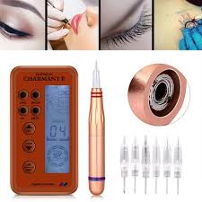 electric digital permanent makeup tattoo machine kit microblading pen eyebrow tattoo lip eyeliner pen cartridge
