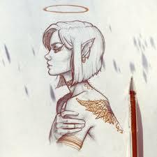 Angel Sketch Tattoo Angel Sketch Album On Imgur