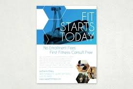 Cool Flyer Templates For Word Fitness Brochure Template Fitness