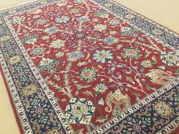 details about 4 1 x 6 1 red navy blue sarouk persian oriental area rug hand knotted wool