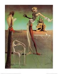 woman with a head of roses salvador dalí paintings