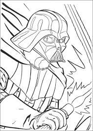 Darth Vader Vecht Kleurplaat Gratis Kleurplaten Printen