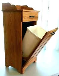 wooden trash bin plans garbage can cabinet wood kitchen amusing cans for outdoor p