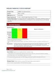 Project Status Executive Summary Template Kazakia Info