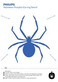 Spider Pumpkin Carving Designs Philips Halloween Pumpkin Carving Stencil Scary Spider