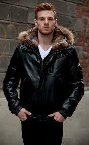 mason cooper man s black premium lambskin 28 leather zip er jacket with goose down detachable zipoff fully lined rex rabbit hood with finn rac