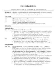 Resume Example For Accounting Position Cpa Resume Sample Objective Experience Farooq Qamar CPA Resume 58