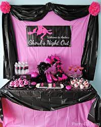 pink and black party decorations idea