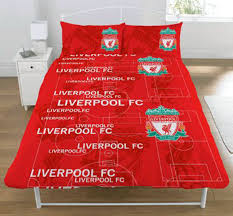 Liverpool Fc Bedroom Accessories Official Liverpool Fc Football Club Single Crest Duvet Quilt Cover