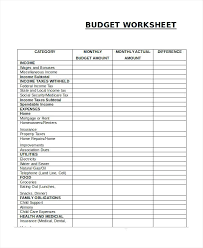 Monthly Expenses Worksheet Excel Home Budget Household Spreadsheet ...