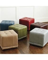 leather cube ottoman.  Ottoman Ballard Designs Leather Cube Ottoman Mineral And A