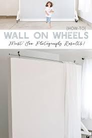 diy wall on wheels photography studio