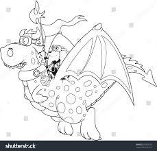 hedgehog dragon riderfantasy character coloring book stock vector 263858558 shutterstock