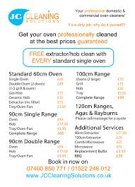 Domestic Cleaning Price List