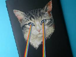 cats shooting lasers out of their eyes. Interesting Cats Last But Not Least Is A Little Pocket Journal With An Embroidered Cat  Shooting Laser Beams Out Of Its Eyes On Cats Shooting Lasers Out Of Their Eyes R