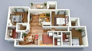 floor plan 3d. House Floor Plans 3d 3 Bedroom Plan Building Design D