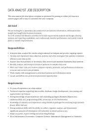 Database Analyst Job Description How To Write Job Descriptions