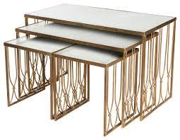 grubb hollywood regency antique mirror coffee table set of 4
