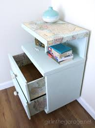 makeover furniture. Decoupaged Map Table {Themed Furniture Makeover Day}