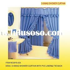 double swag shower curtain with valance double swag shower