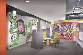 urban office design. Digitas Decks Out Its Inspiring Chicago Office With Salvaged Factory Materials And Urban Graffiti. Design