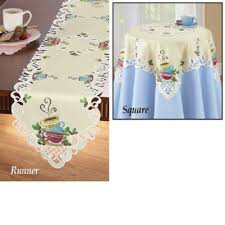 coffee cup table runner
